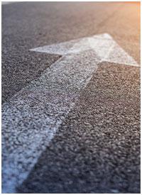 Arrow on a road