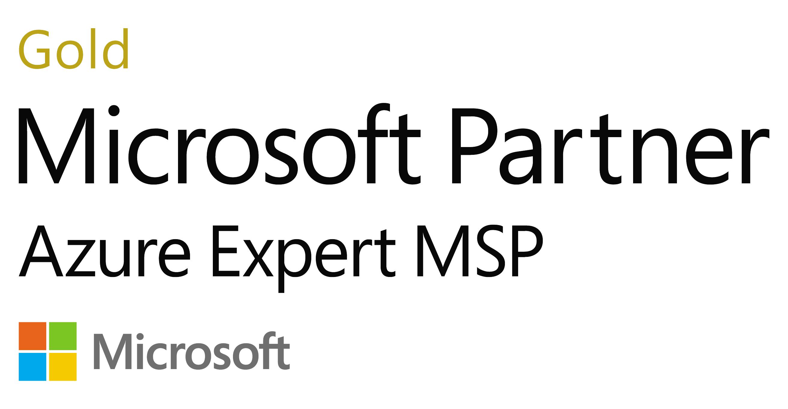 Microsoft MSP award logo