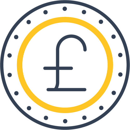 An icon of a coin
