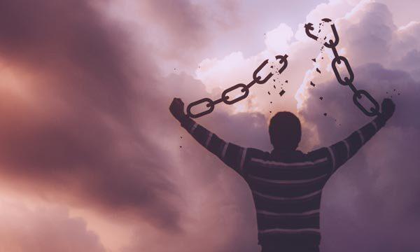 Man breaking free