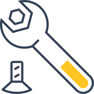 Icon of a spanner undoing a bolt