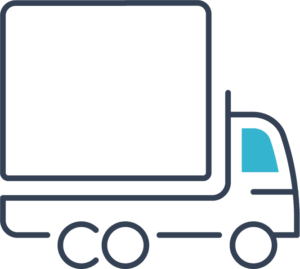Icon of a delivery van