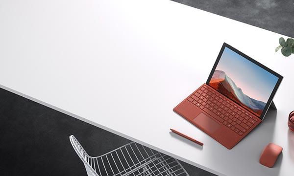 surface laptop on desk