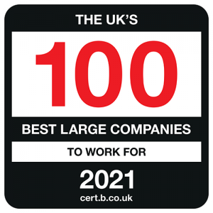 The UK's 100 Best Large Companies to Work For 2021