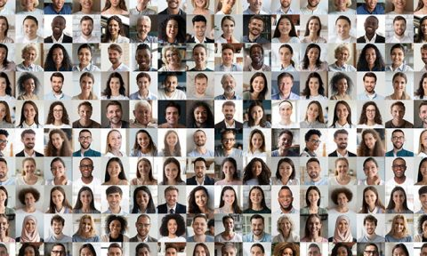 collage of faces of people from all backgrounds