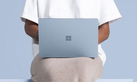 woman using surface laptop 4