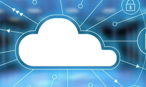 Image showing a digital cloud to symbolise the Microsoft cloud.