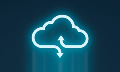 Image showing a digital cloud with arrows to symbolise data transfer